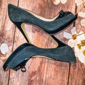 Marc Fisher dark Navy peep-toe size 10 pumps